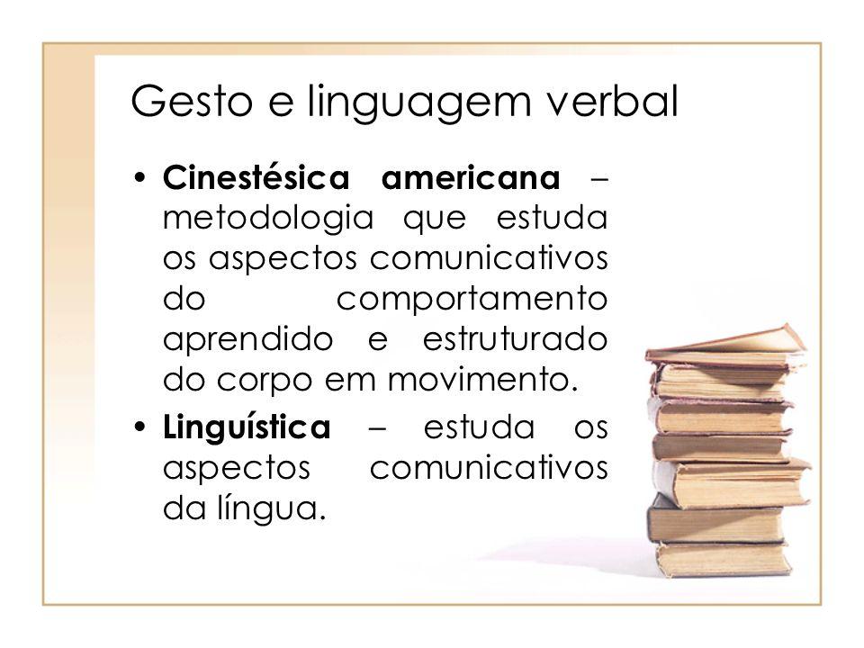 Gesto e linguagem verbal