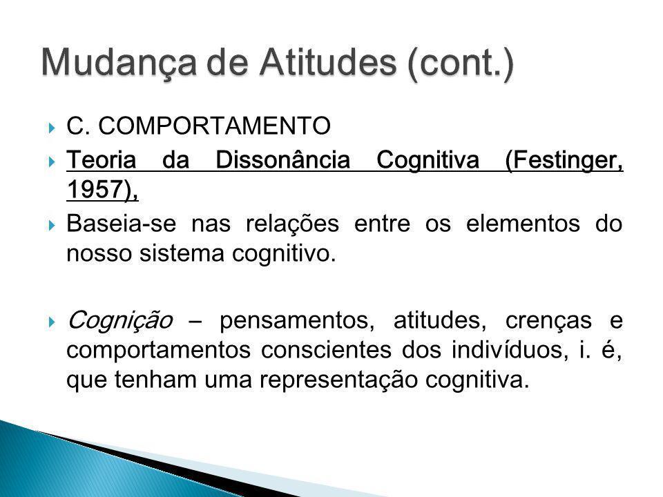 Mudança de Atitudes (cont.)