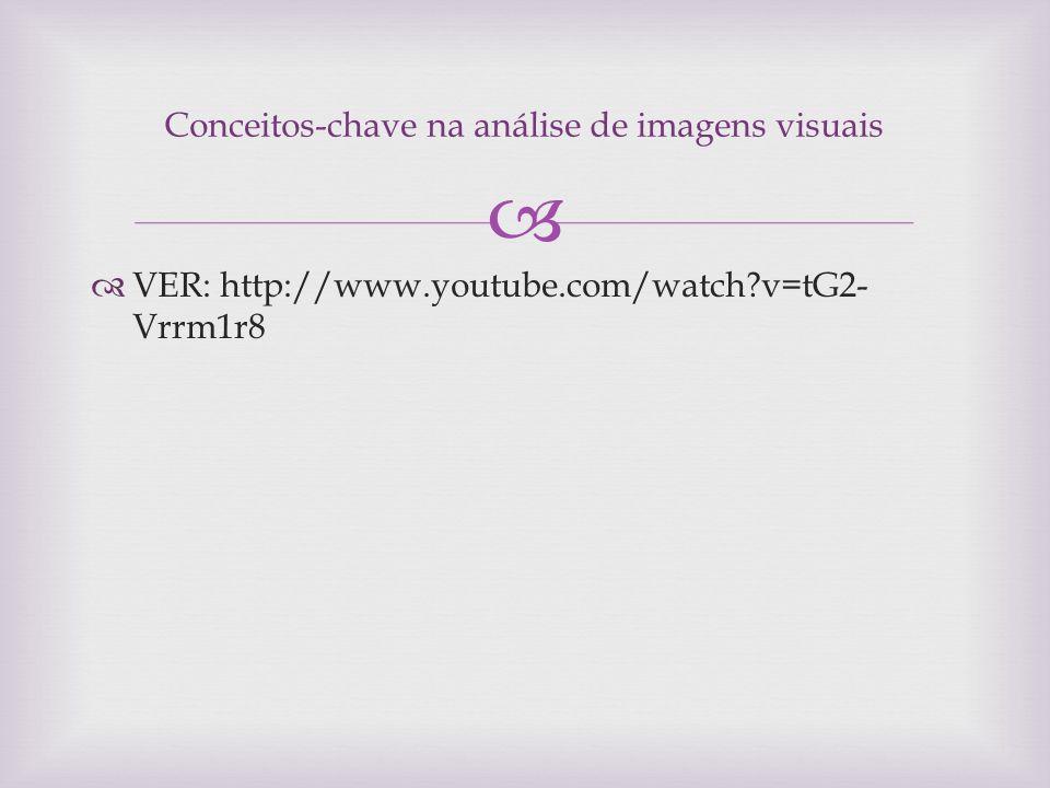 Conceitos-chave na análise de imagens visuais