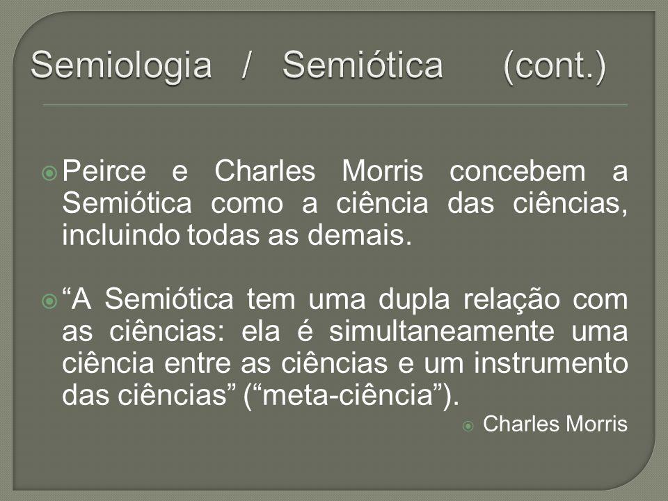 Semiologia / Semiótica (cont.)