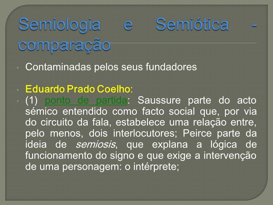 Semiologia e Semiótica - comparação