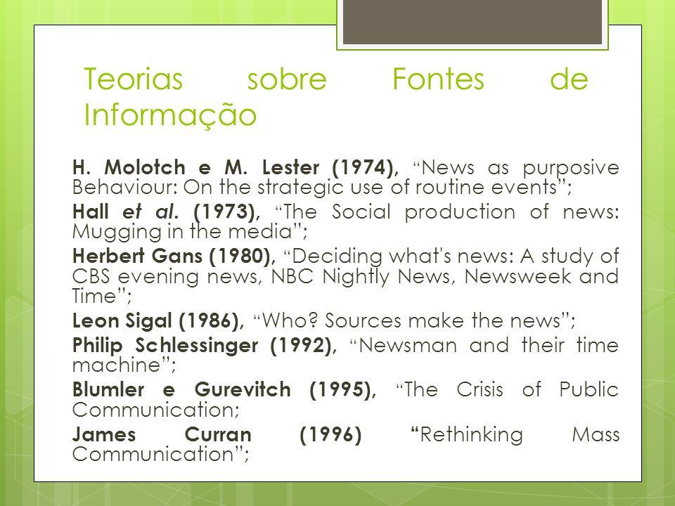 Teorias sobre Fontes de Informação