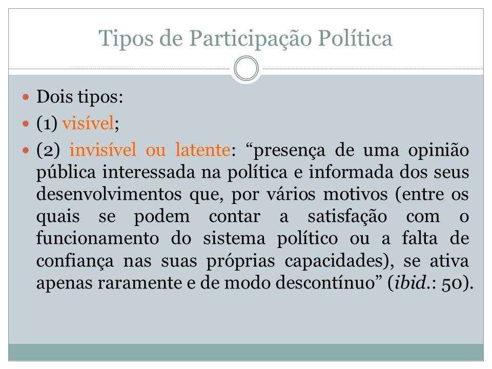 Tipos de Participação Política
