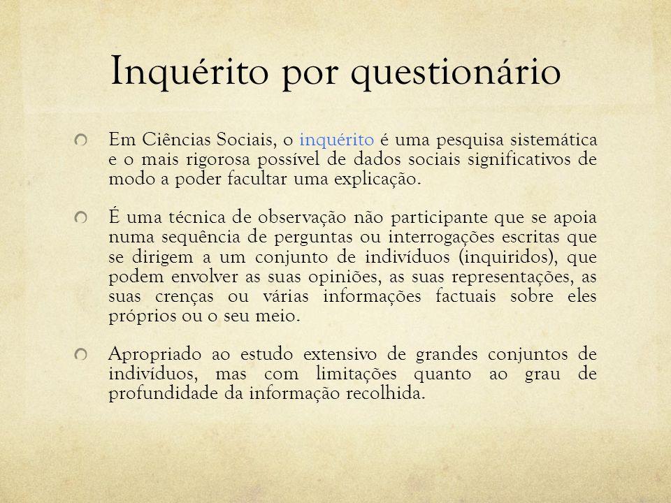 Inquérito por questionário
