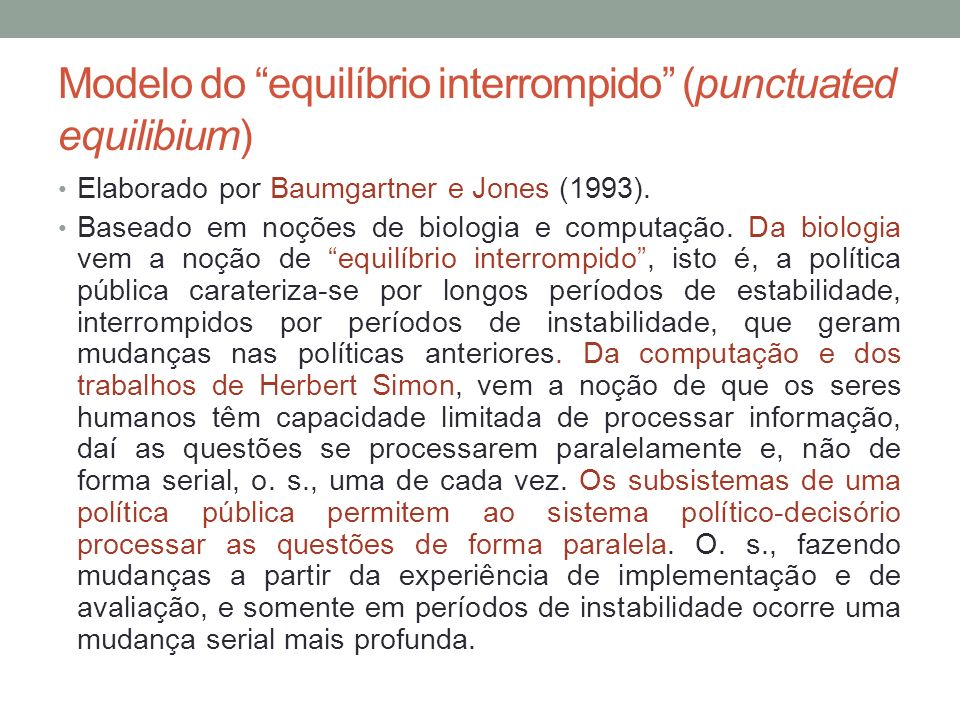Modelo do equilíbrio interrompido (punctuated equilibium)
