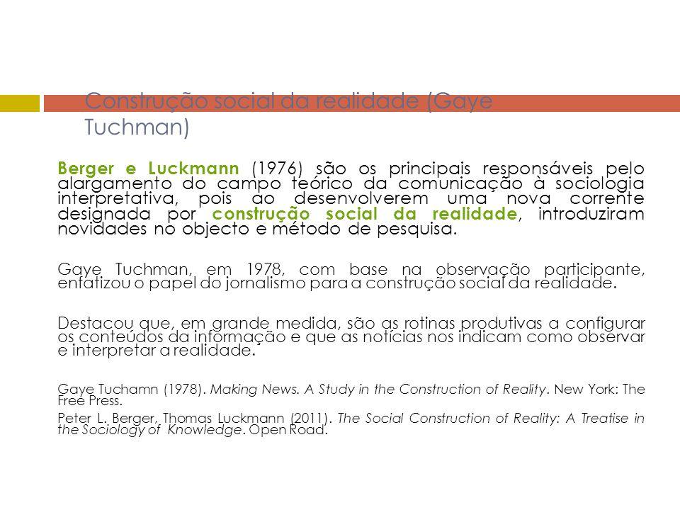 Construção social da realidade (Gaye Tuchman)