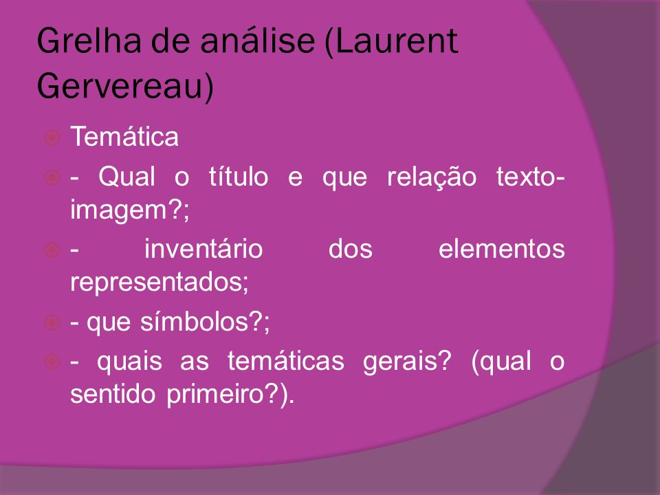 Grelha de análise (Laurent Gervereau)