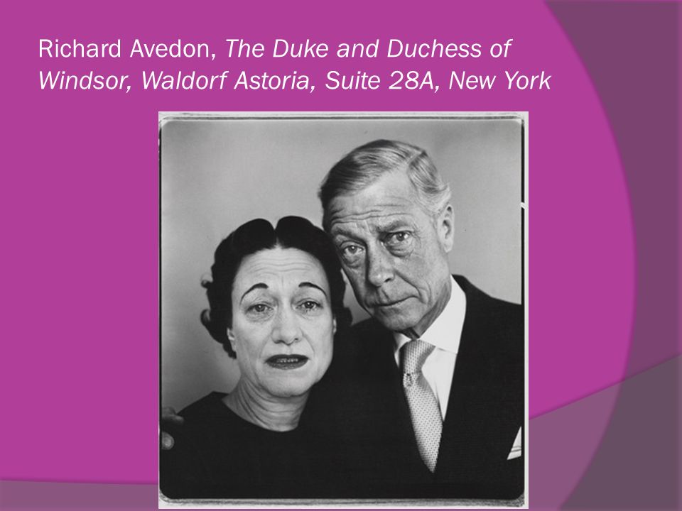 Richard Avedon, The Duke and Duchess of Windsor, Waldorf Astoria, Suite 28A, New York