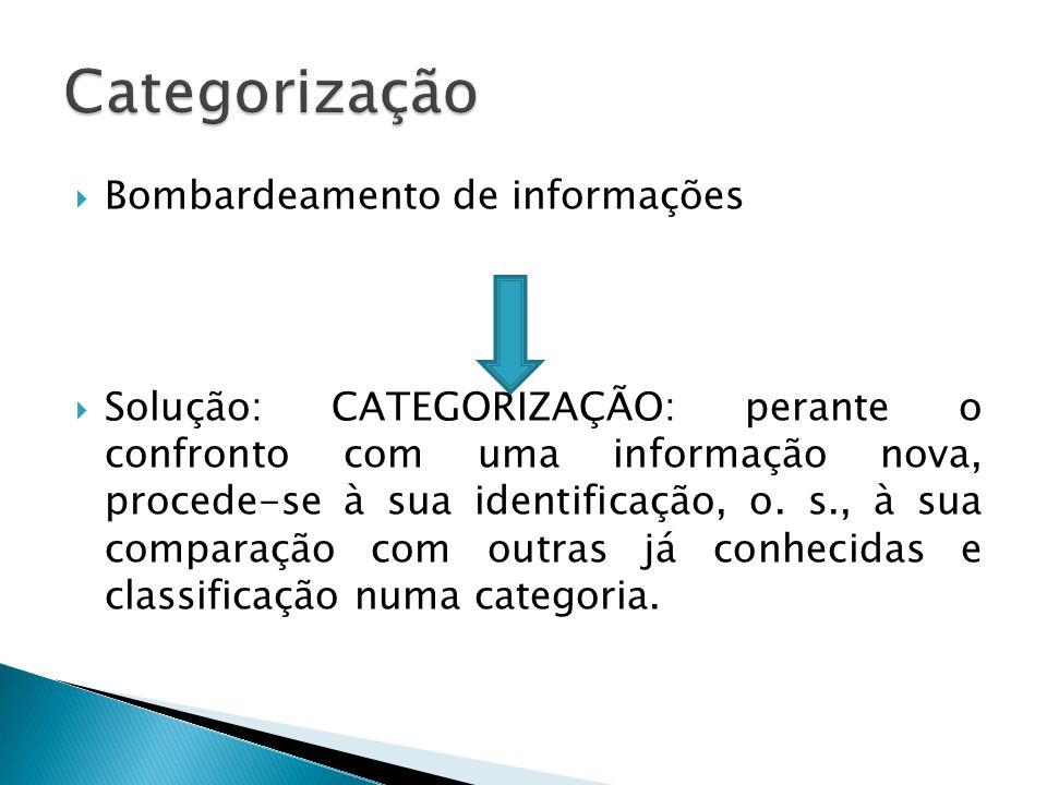 Categorização Bombardeamento de informações