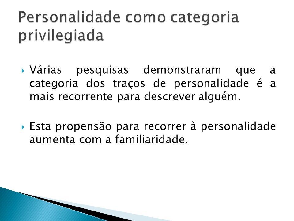 Personalidade como categoria privilegiada