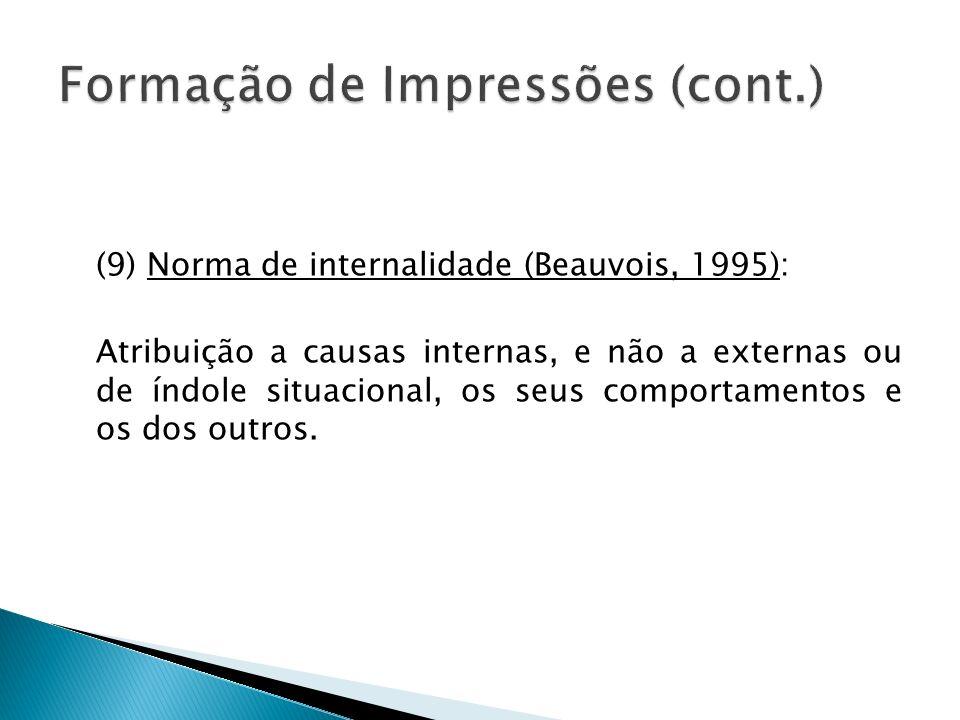 Formação de Impressões (cont.)