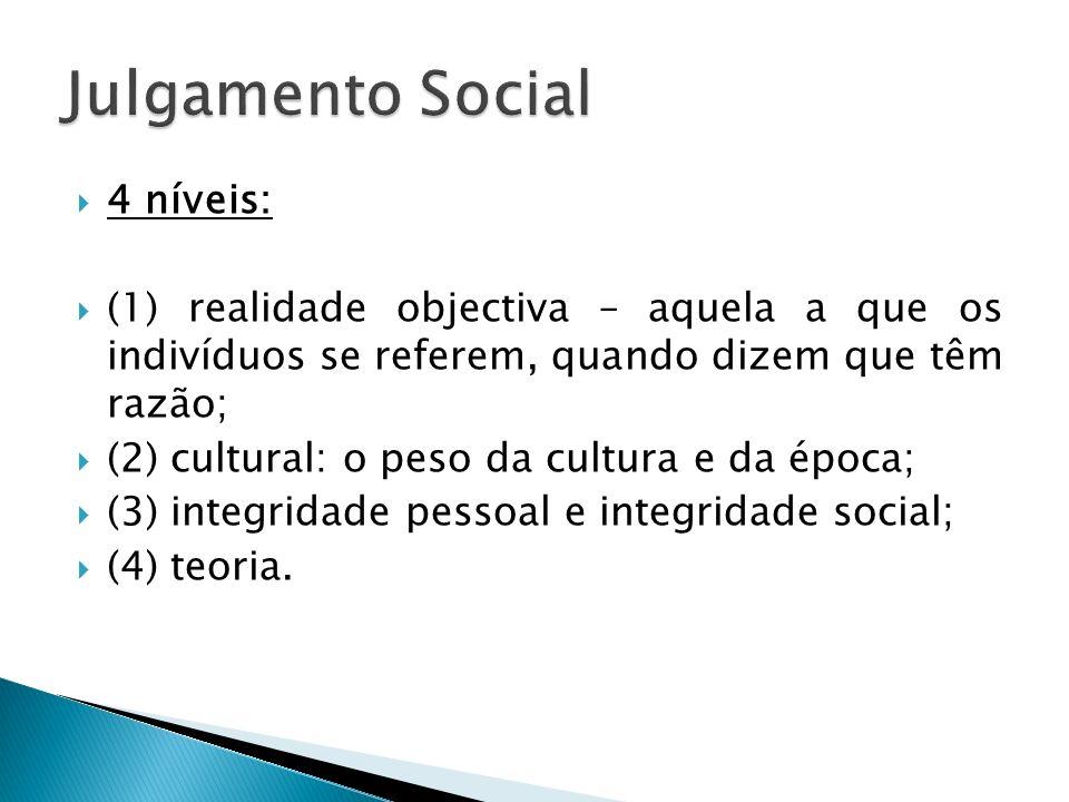 Julgamento Social 4 níveis:
