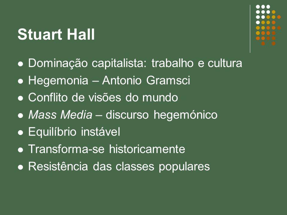 Stuart Hall Dominação capitalista: trabalho e cultura