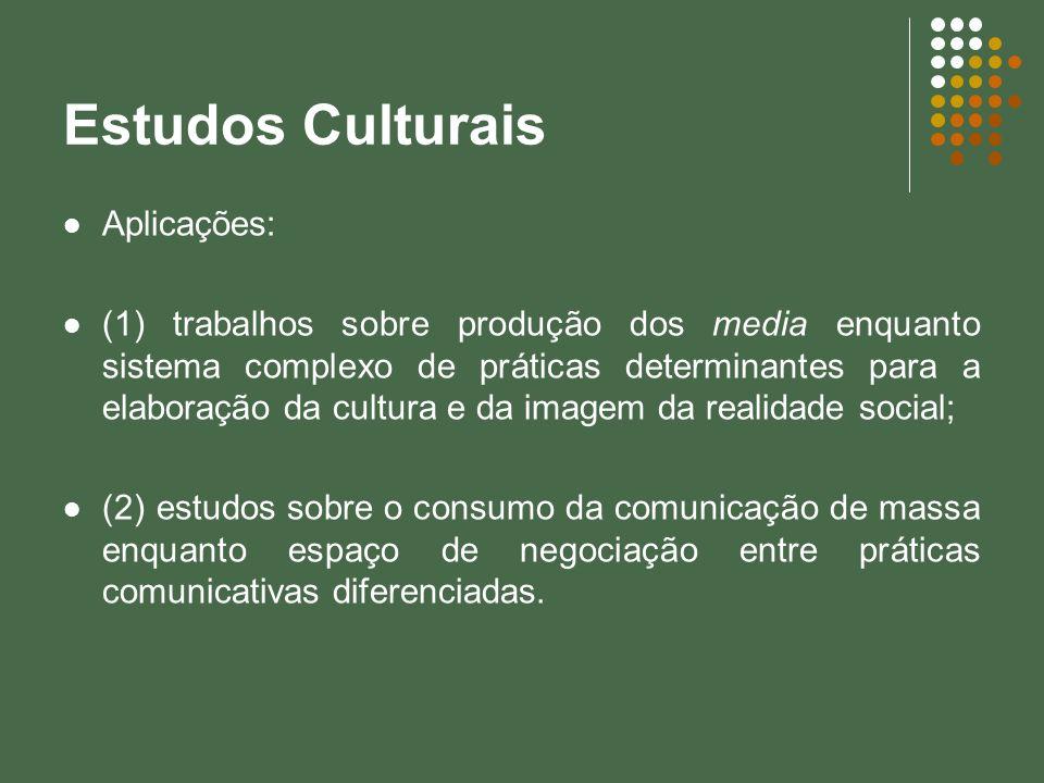 Estudos Culturais Aplicações: