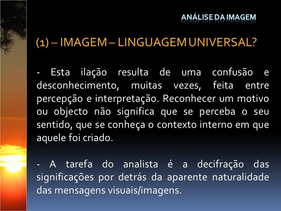 (1) – IMAGEM – LINGUAGEM UNIVERSAL