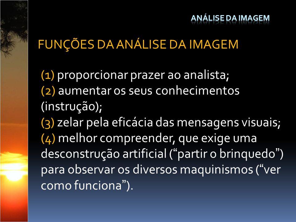 FUNÇÕES DA ANÁLISE DA IMAGEM