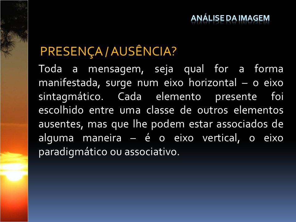 Análise da Imagem PRESENÇA / AUSÊNCIA