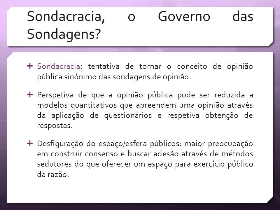 Sondacracia, o Governo das Sondagens