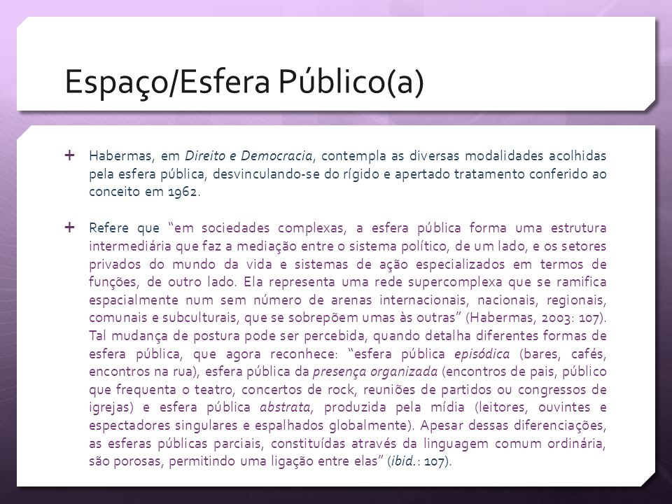 Espaço/Esfera Público(a)