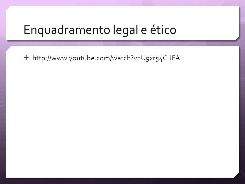 Enquadramento legal e ético