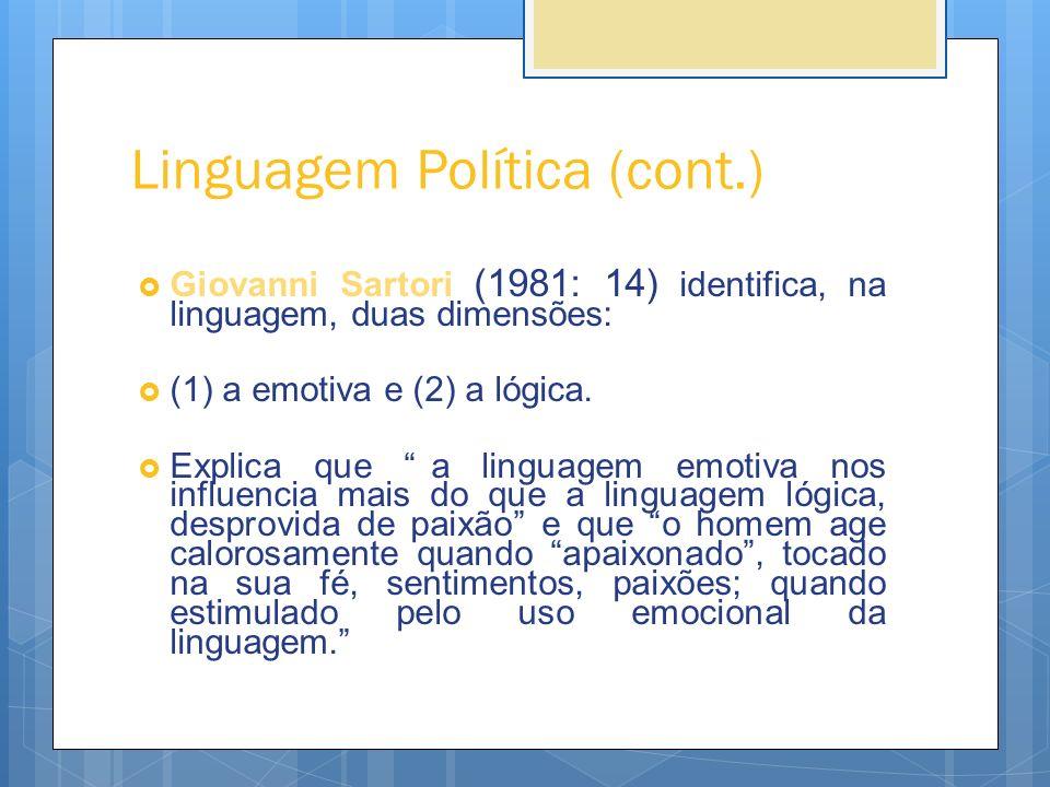 Linguagem Política (cont.)