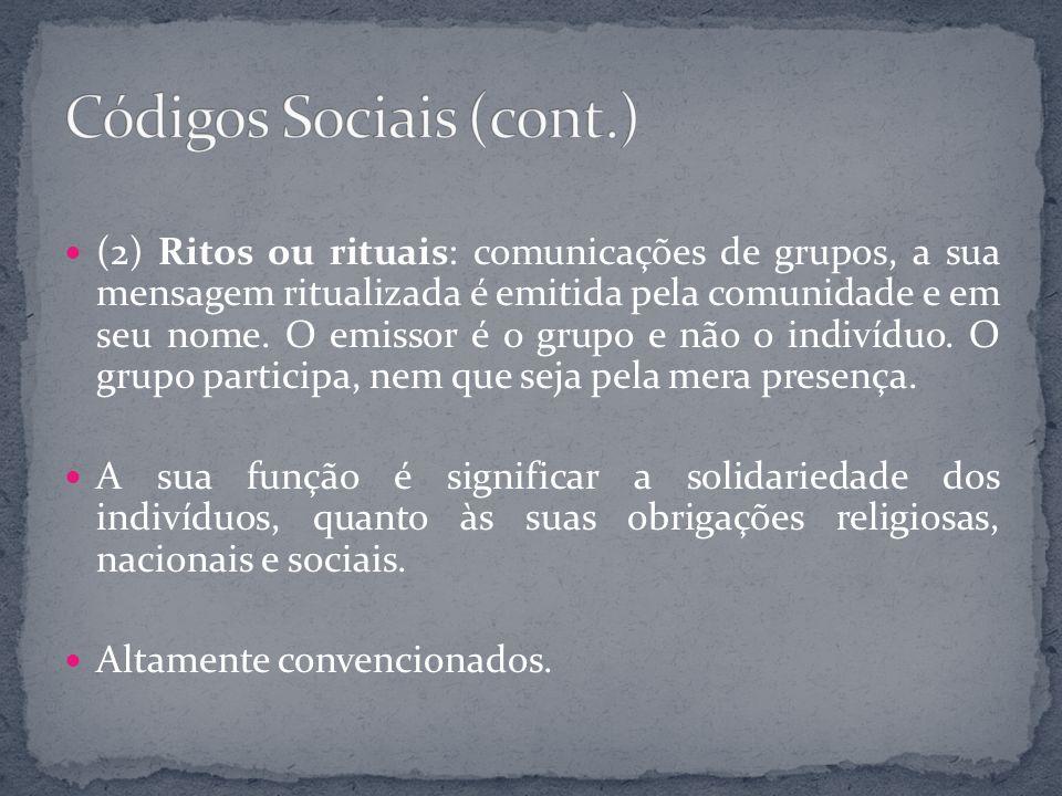 Códigos Sociais (cont.)