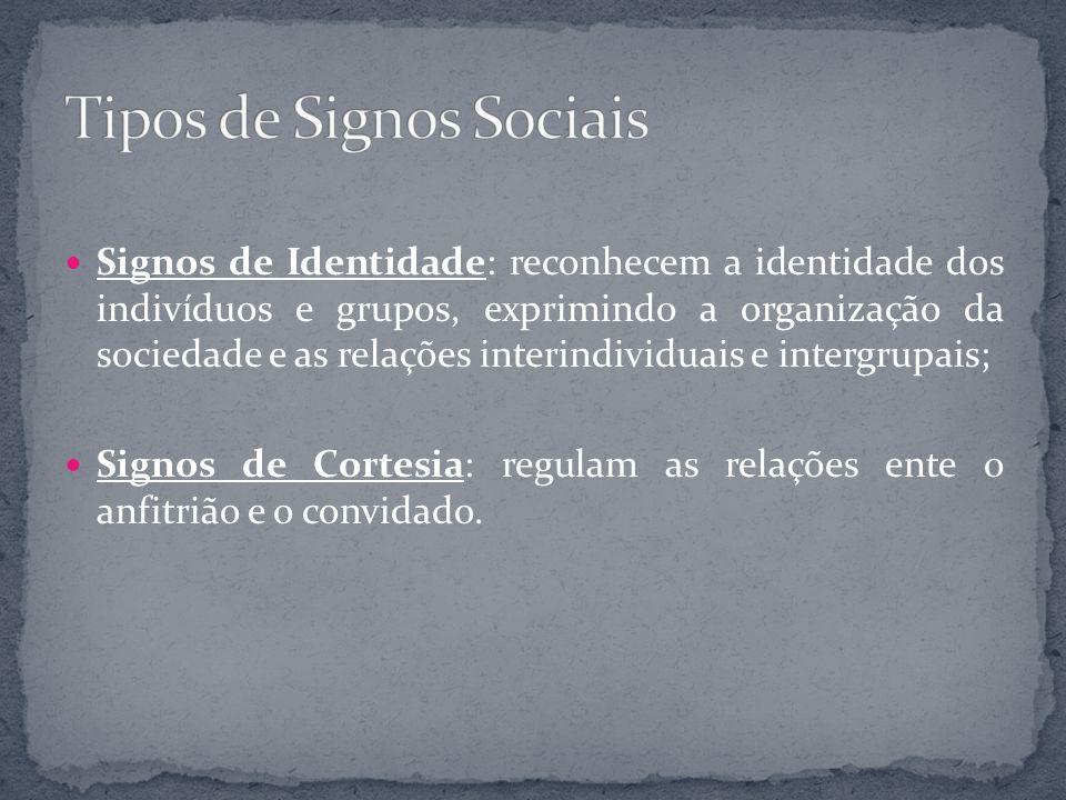 Tipos de Signos Sociais