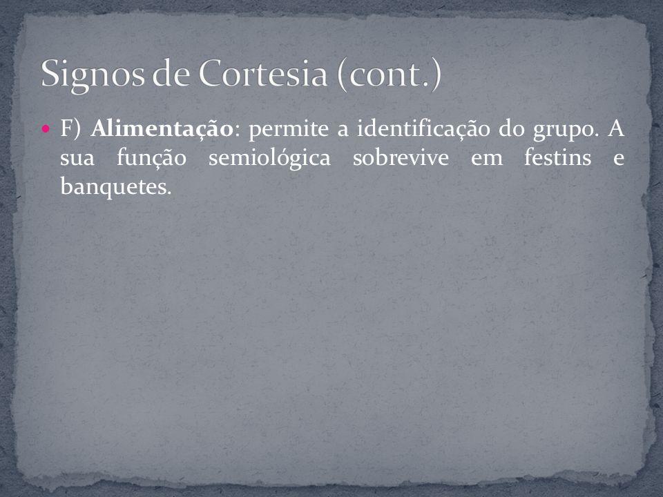 Signos de Cortesia (cont.)