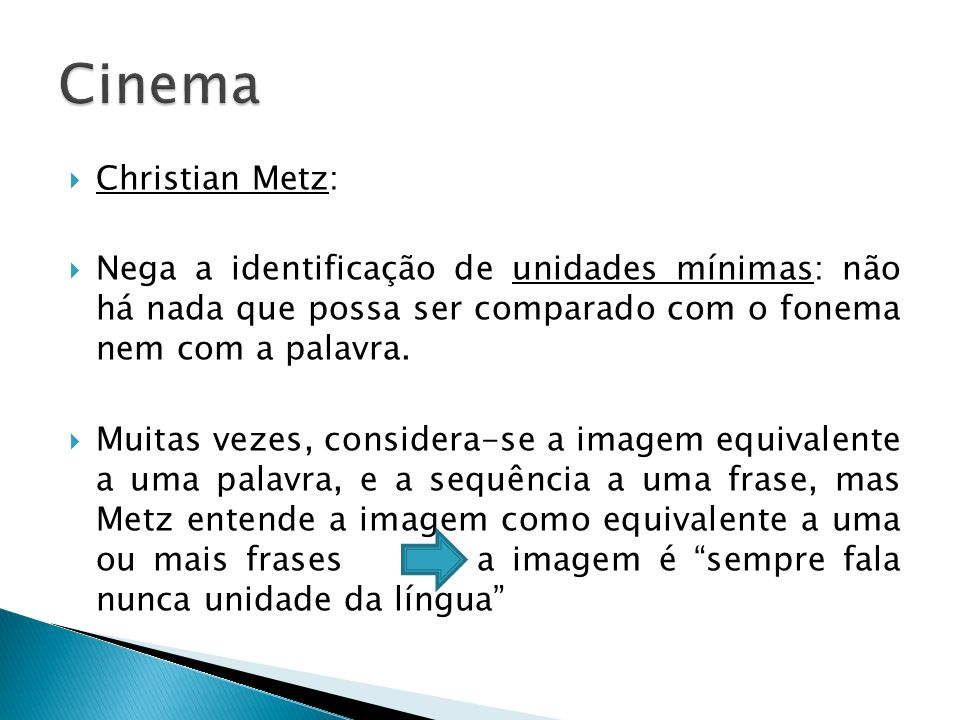 Cinema Christian Metz: