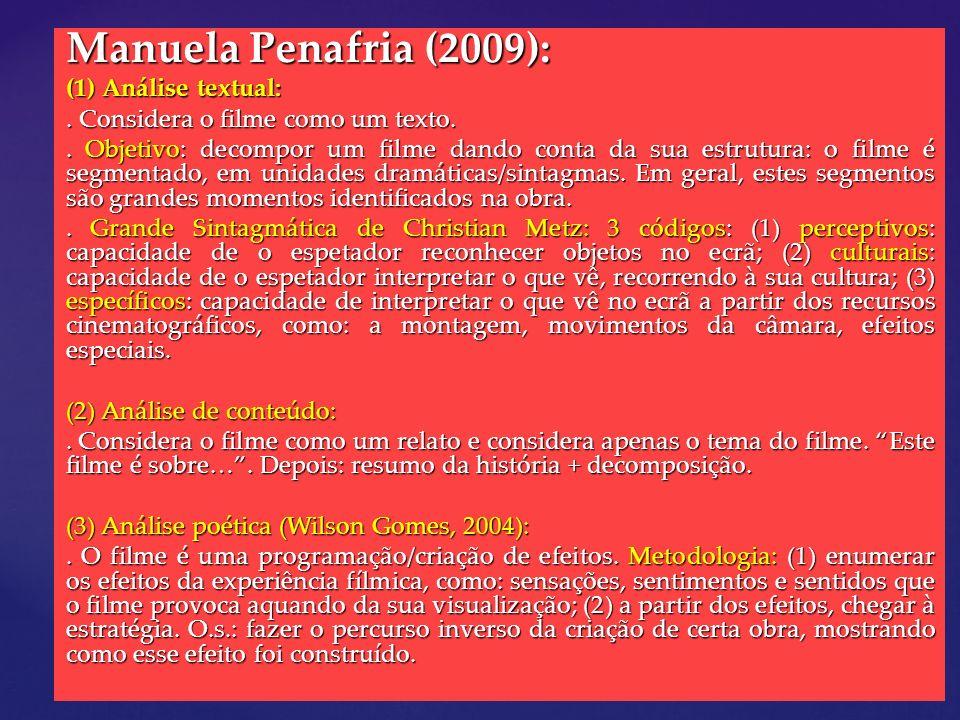 Manuela Penafria (2009): (1) Análise textual: