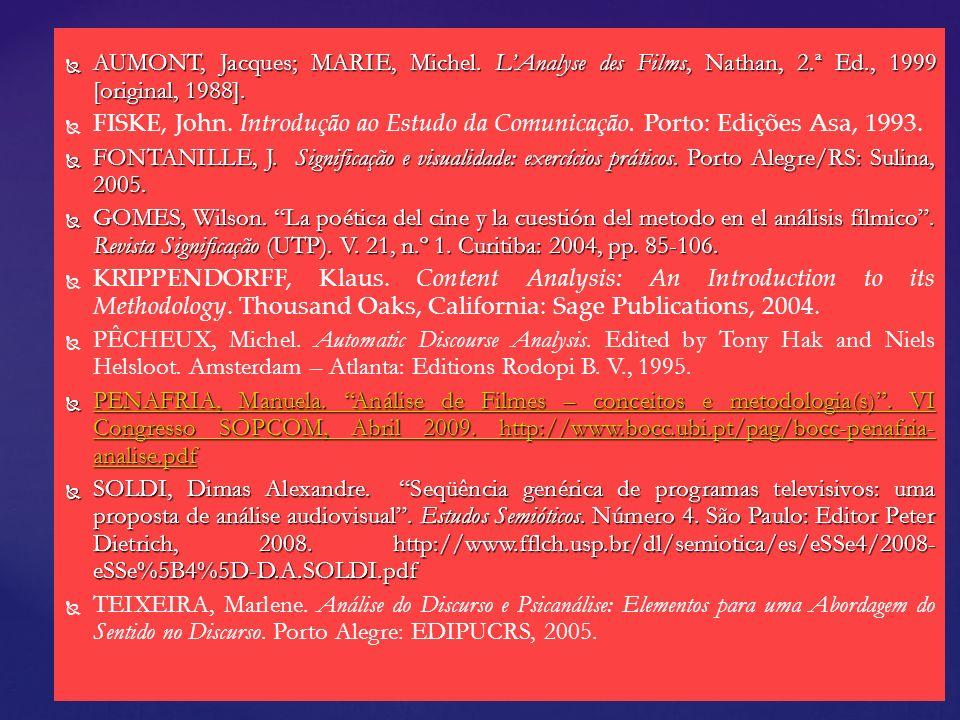 AUMONT, Jacques; MARIE, Michel. L'Analyse des Films, Nathan, 2. ª Ed