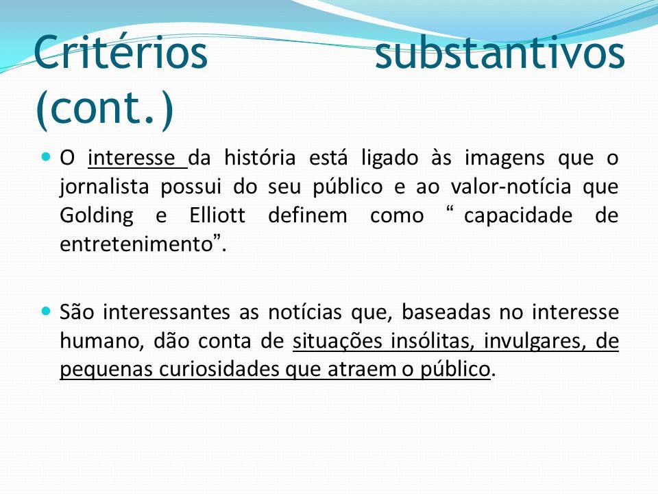 Critérios substantivos (cont.)