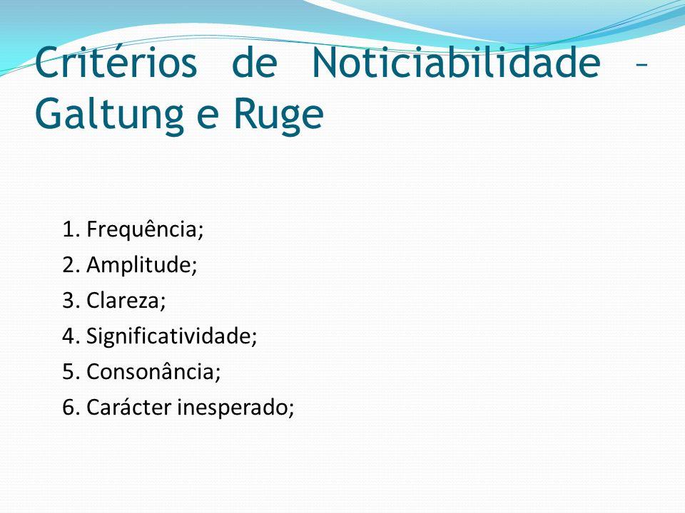 Critérios de Noticiabilidade – Galtung e Ruge