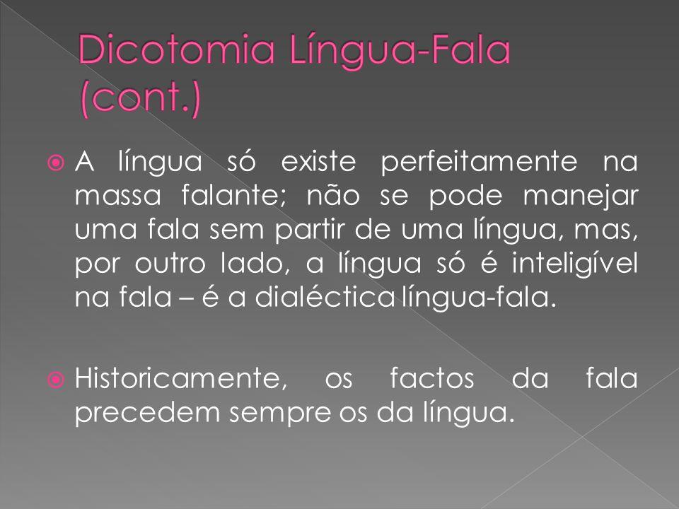 Dicotomia Língua-Fala (cont.)