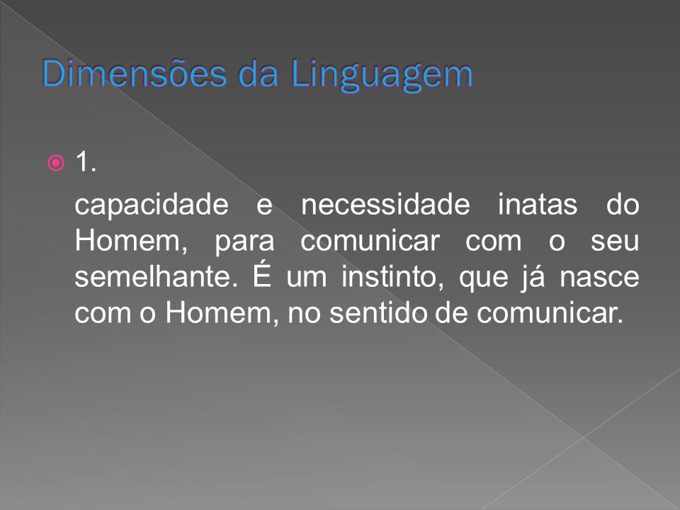 Dimensões da Linguagem