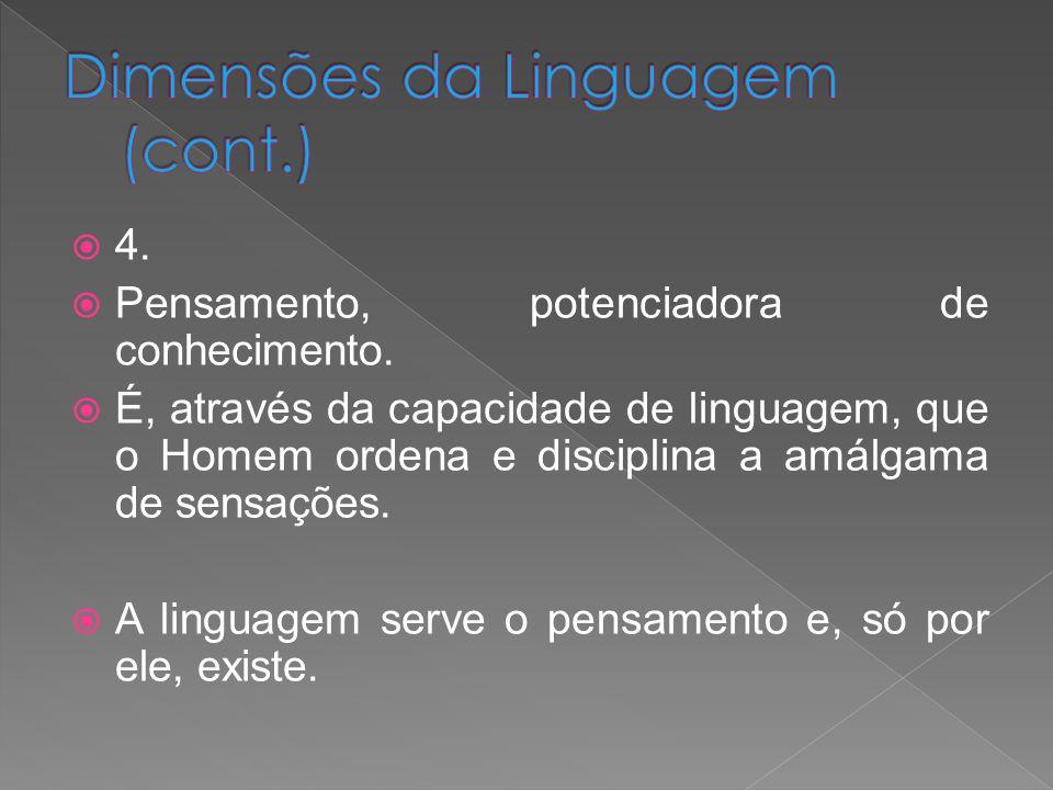 Dimensões da Linguagem (cont.)