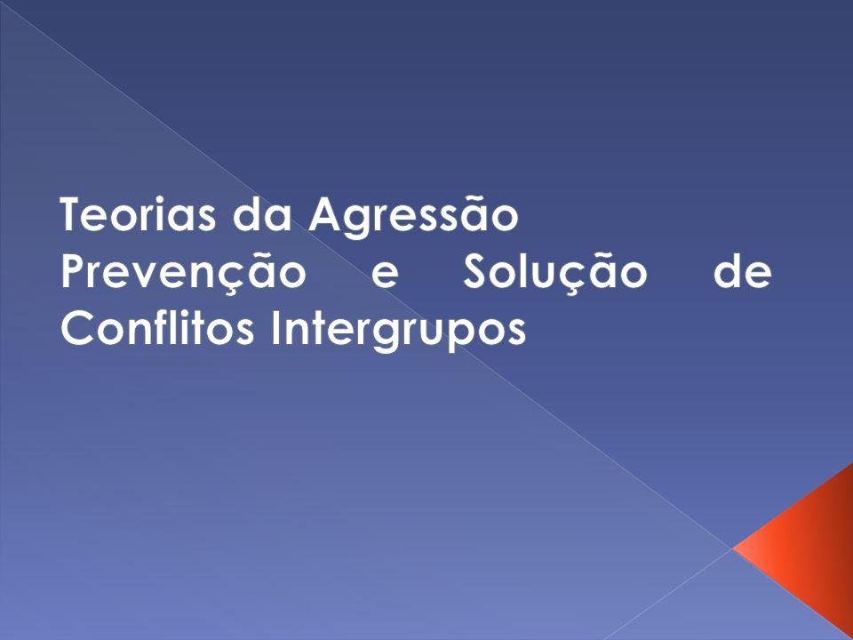 Teorias da Agressão Prevenção e Solução de Conflitos Intergrupos