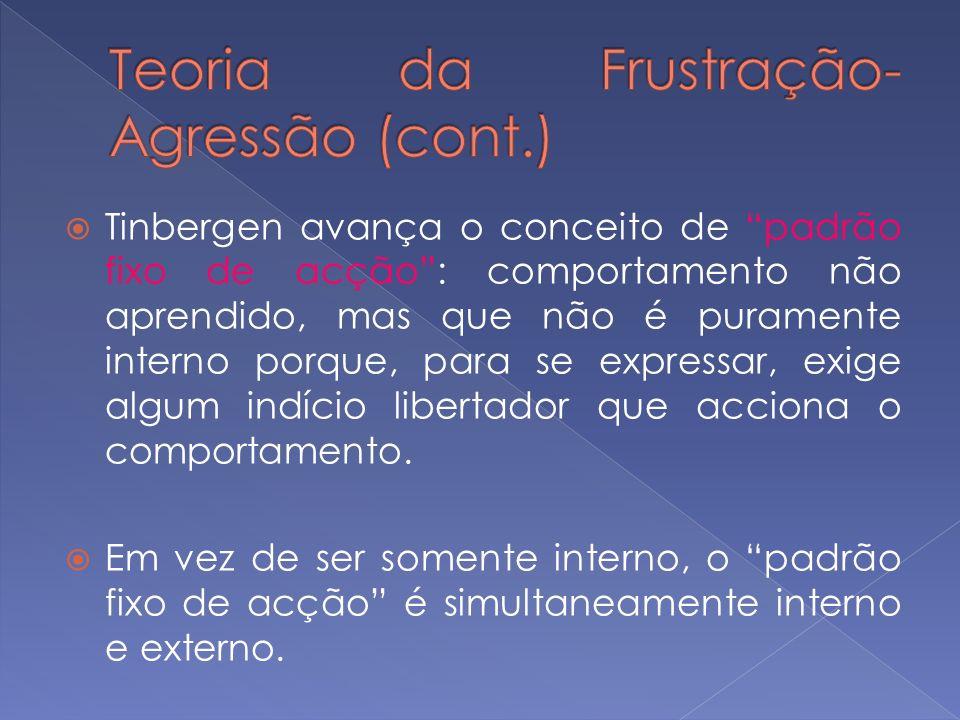 Teoria da Frustração-Agressão (cont.)