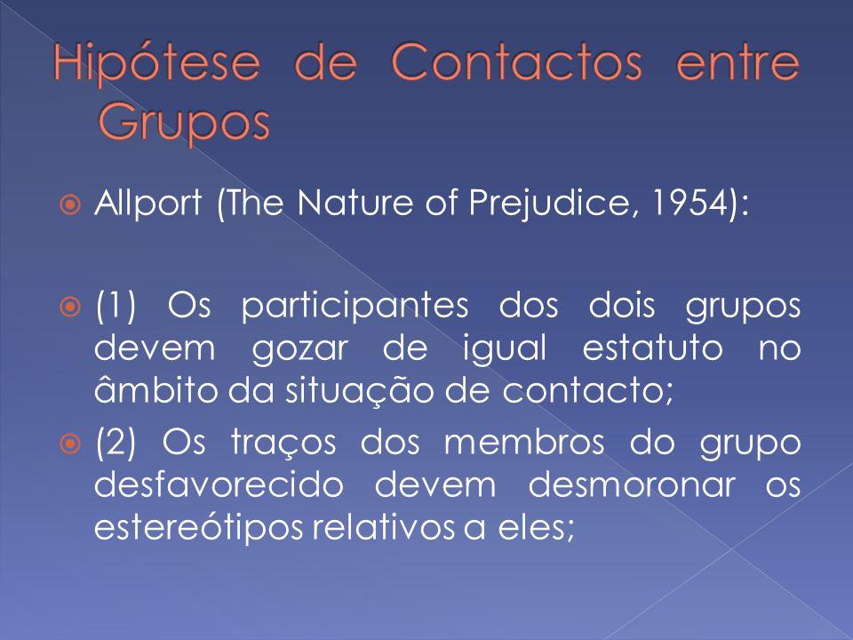 Hipótese de Contactos entre Grupos