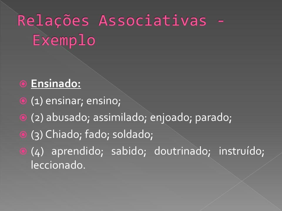 Relações Associativas -Exemplo