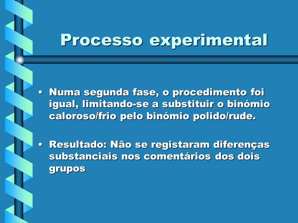 Processo experimental