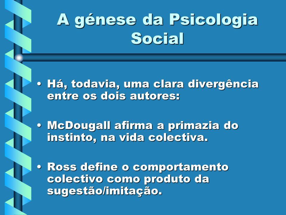 A génese da Psicologia Social