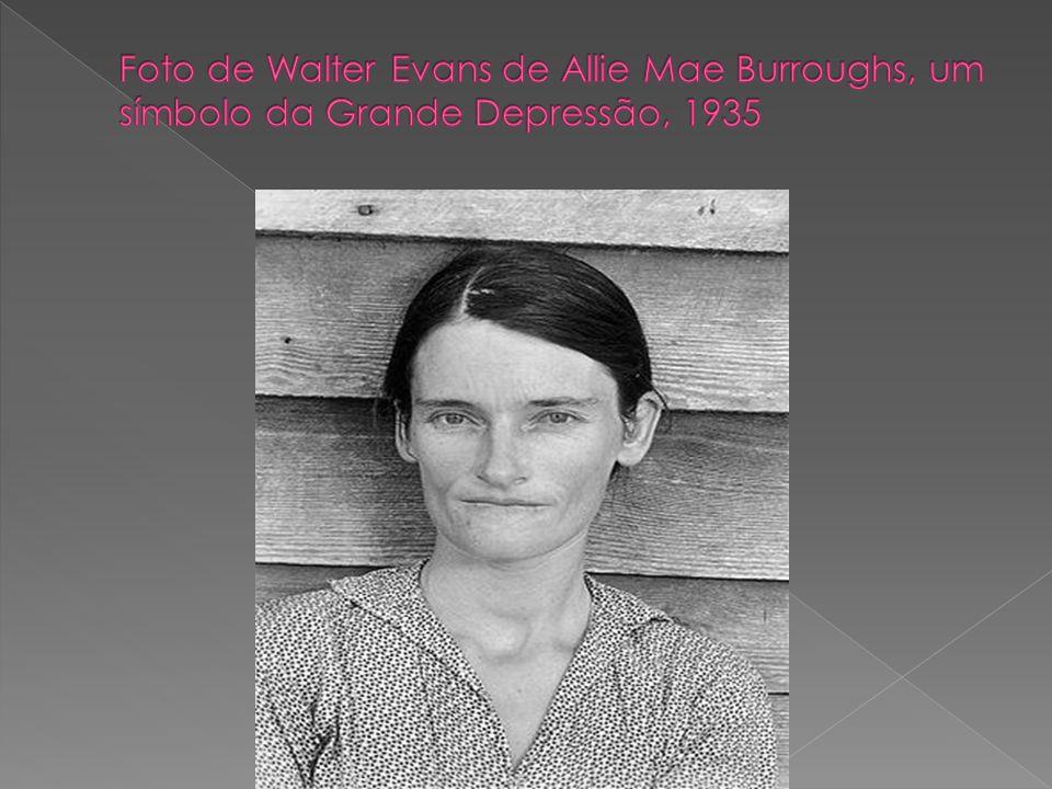 Foto de Walter Evans de Allie Mae Burroughs, um símbolo da Grande Depressão, 1935