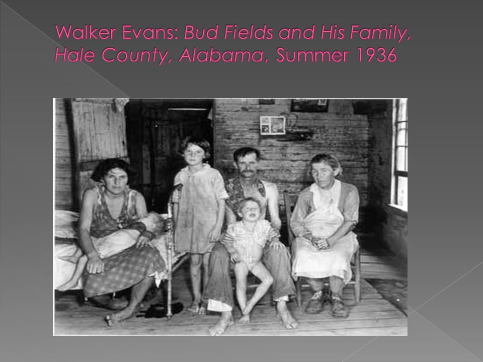 Walker Evans: Bud Fields and His Family, Hale County, Alabama, Summer 1936