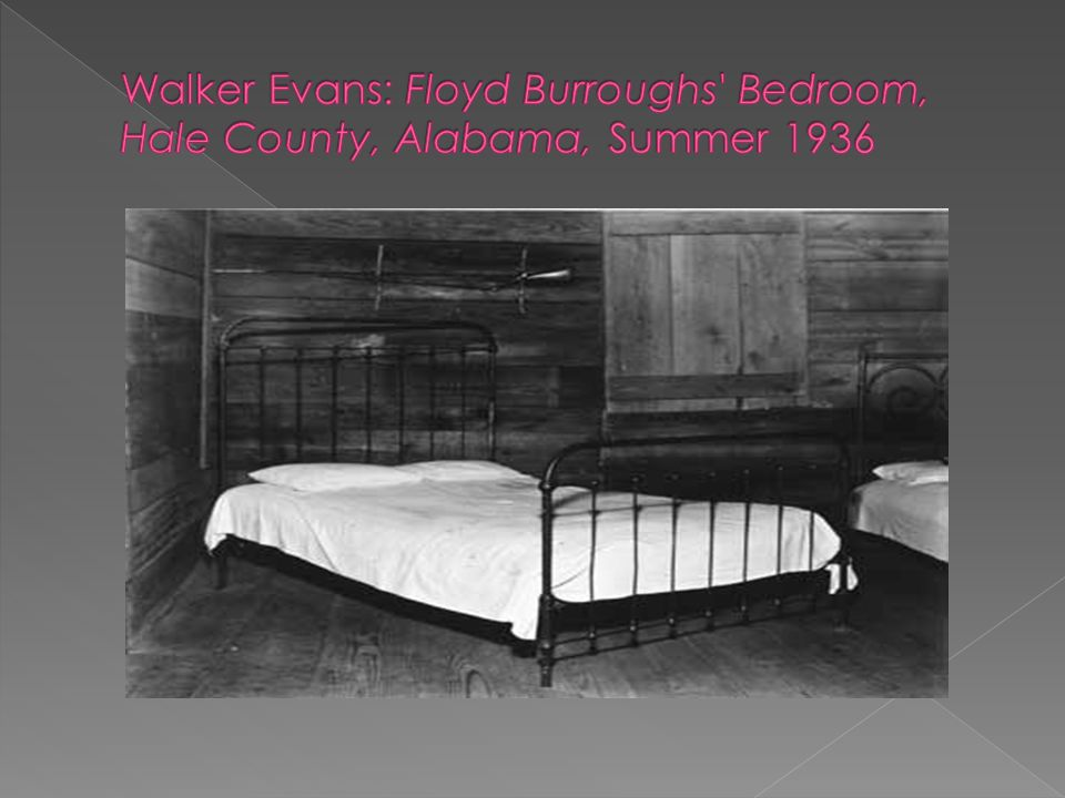 Walker Evans: Floyd Burroughs Bedroom, Hale County, Alabama, Summer 1936