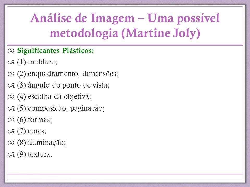 Análise de Imagem – Uma possível metodologia (Martine Joly)