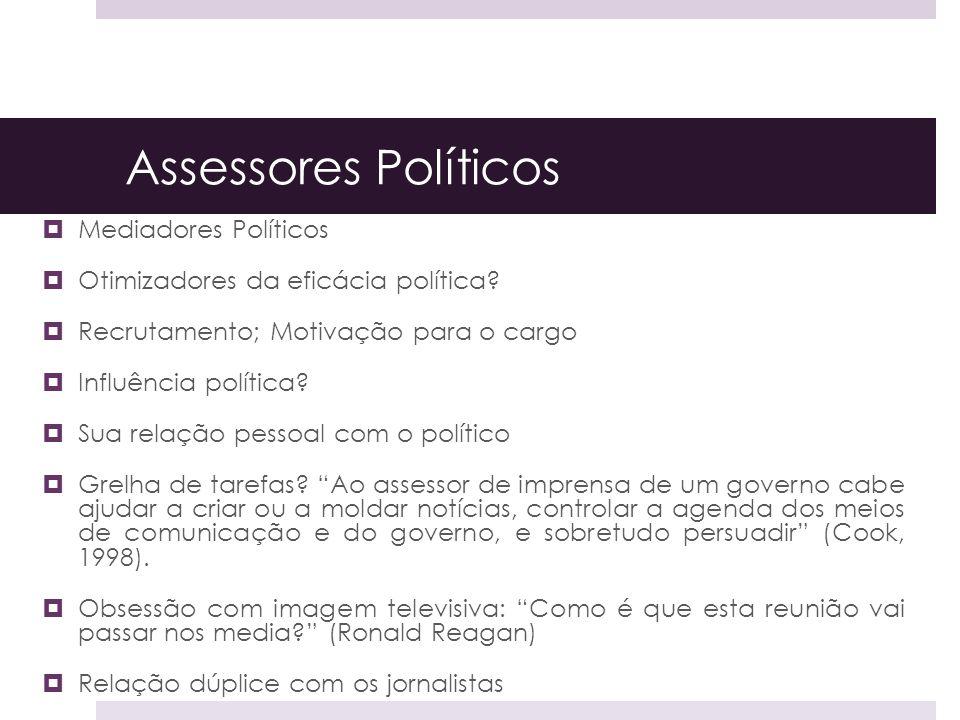 Assessores Políticos Mediadores Políticos