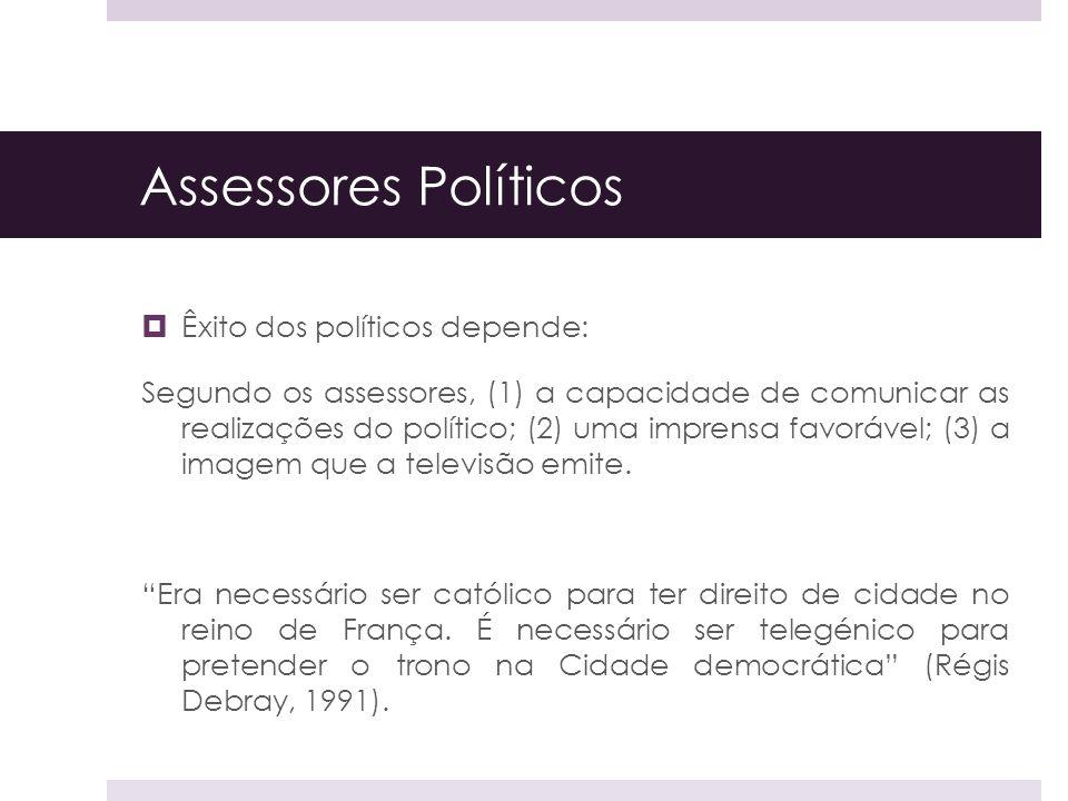Assessores Políticos Êxito dos políticos depende: