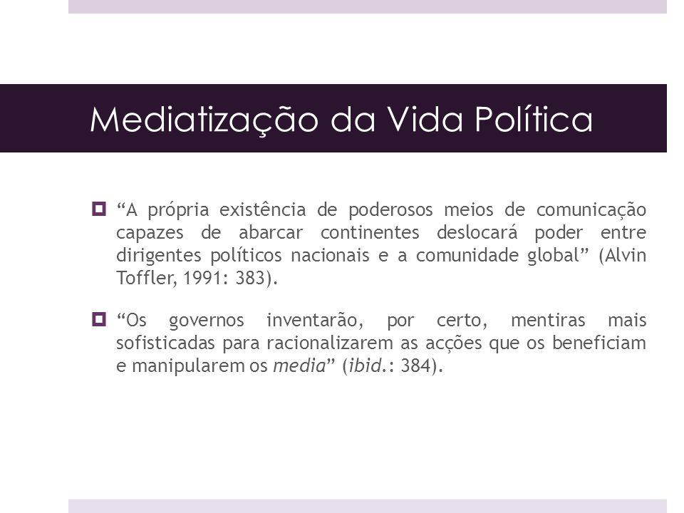 Mediatização da Vida Política