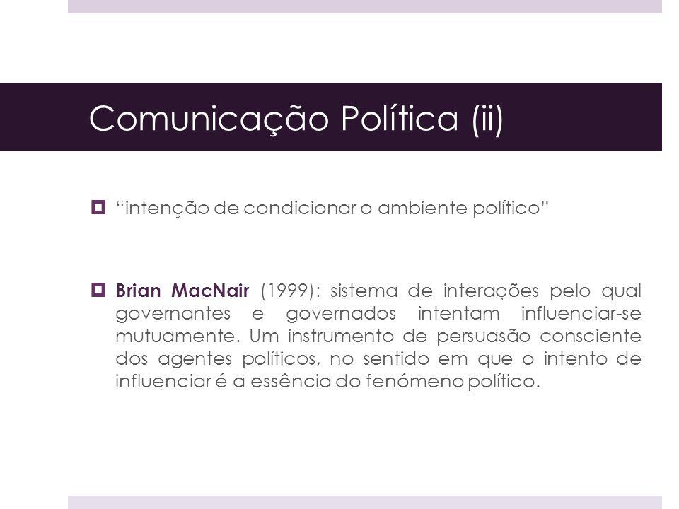 Comunicação Política (ii)